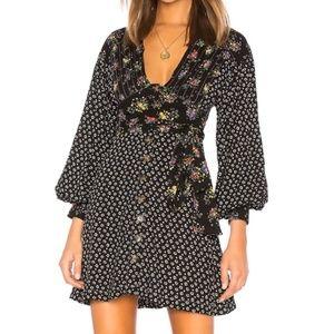 3/$60 New Free People Wonderland Print Dress